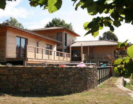 Maison Ossature BoisGard Piscine Douglas -ATBC