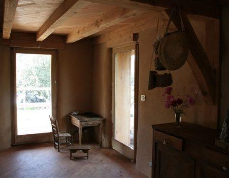 Maison Paille Enduit Terre Cèdre - Gard - ATBC