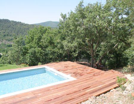Terrasse Piscine IPE Gard
